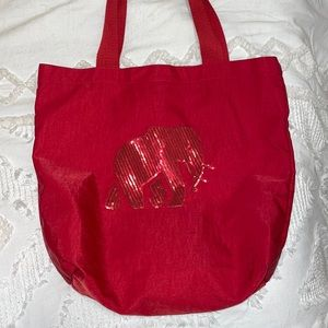 Banana Republic Sequin Elephant Tote Bag Red